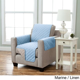 Home Fashion Designs Kaylee Collection Quilted Reversible Chair Protector (2 options available)