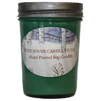 Scented Green 8 oz. Jelly Jar Soy Candle