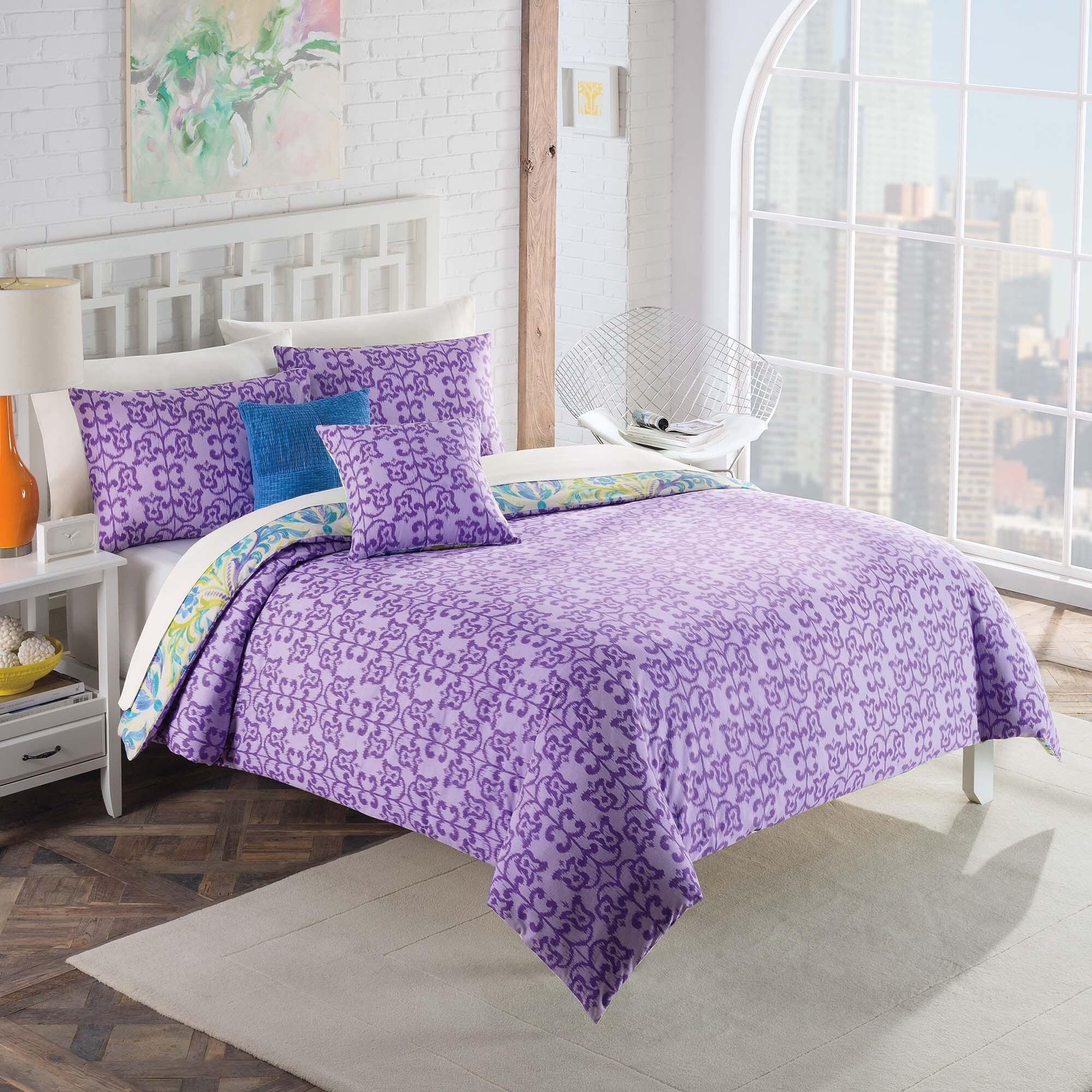 Vue Talulah Reversible 5 Piece Cotton Comforter Set Multi Overstock 10610055