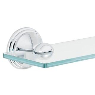 Moen Inspirations 2.2 in. H Chrome Chrome Glass Shelf Glass