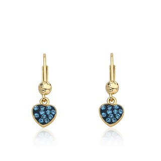 Molly Glitz 'Heart Of Jewels' 14k Goldplated and Enamel Crystal Heart Earrings