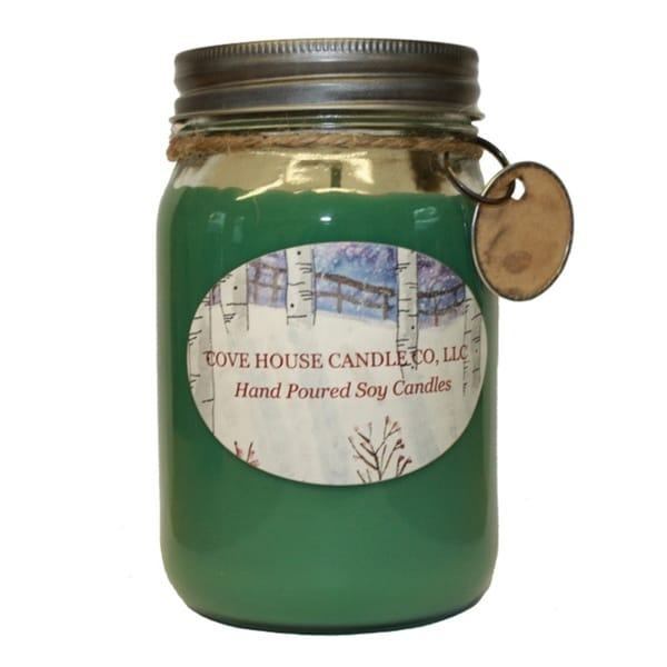 Scented Green 16 oz. Canning Jar Soy Candle