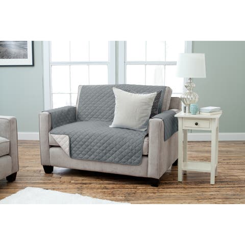 Home Fashion Designs Kaylee Collection Quilted Reversible Loveseat Protector