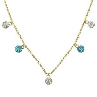 Molly Glitz Glitz Blitz 14k Goldplated and Dangling Crystal Balls Necklace