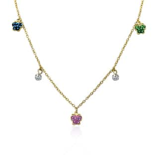 Molly Glitz Shine Bright 14k Goldplated Multicolor Butterflies Crystal Balls Dangle Charm Necklace|https://ak1.ostkcdn.com/images/products/10610118/P17681579.jpg?impolicy=medium