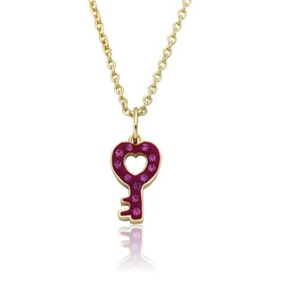 Molly Glitz Heart Of Jewels 14k Goldplated Pink/ White Hot Pink Heart Cluster Chain Necklace