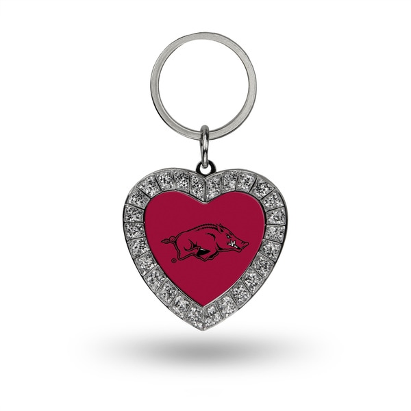 NCAA Arkansas Razorbacks Heart Key Chain