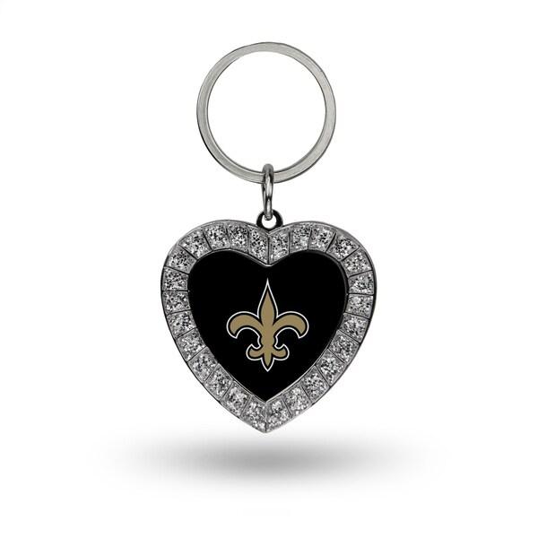 NFL New Orleans Saints Heart Key Chain