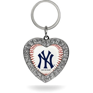 MLB New York Yankees Heart Key Chain