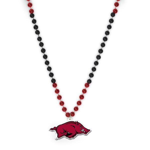 NCAA Arkansas Razorbacks Sports Beads with Medallion