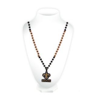 NFL New Orleans Saints Sports Beads with Medallion