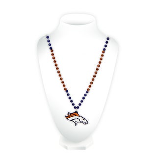 NFL Denver Broncos Sports Beads with Medallion