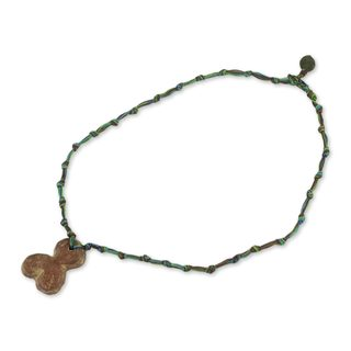 Handcrafted Soapstone 'Blossom' Necklace (Ghana)