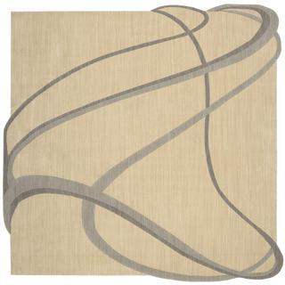 Nourison Silhouette Beige Rug (7'9 x 7'9)
