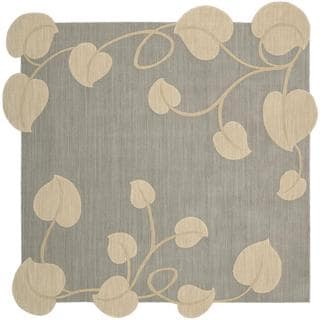 Nourison Silhouette Light Blue Rug (7'9 x 7'9)