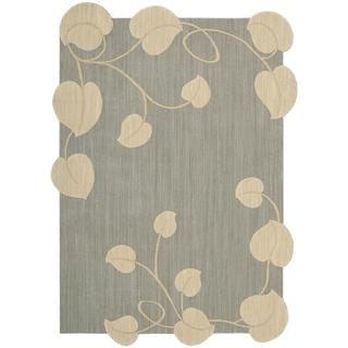 Nourison Silhouette Light Blue Rug (5'3 x 7'5)