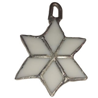 Stained Glass Snowflake Christmas Tree Ornament