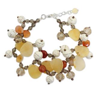 Handcrafted Multi-gemstone 'Autumn Symphony' Bracelet (Thailand)