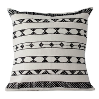 Set of 2 Handcrafted Cotton 'Desert Geometry' Cushion Covers (India)