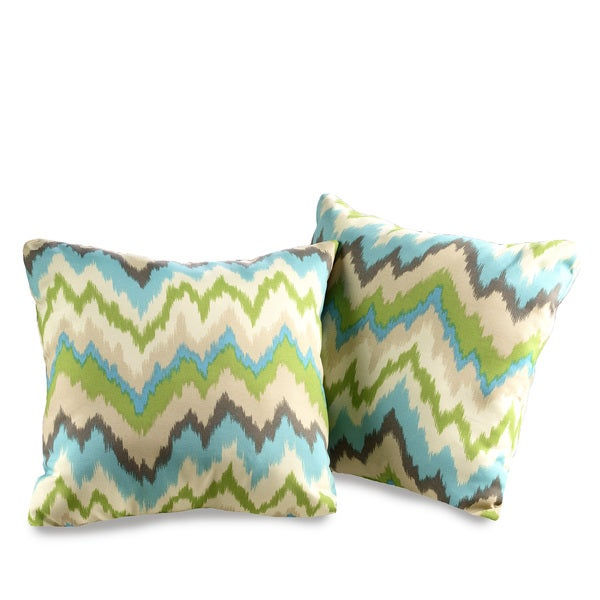 Outdoor Decorative Pillow Sets : Ziggy Waverly Decorative Indoor/Outdoor Throw Pillows (Set of 2) - Free Shipping On Orders Over ...