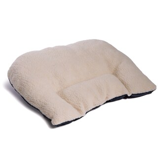 Faux Shearling Spine Saver Lumbar Cushion