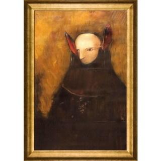 Odilon Redon 'The Monster' Hand Painted Framed Canvas Art