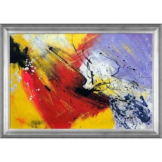 Pol Ledent 'Abstract 96319012' Hand Painted Framed Canvas Art