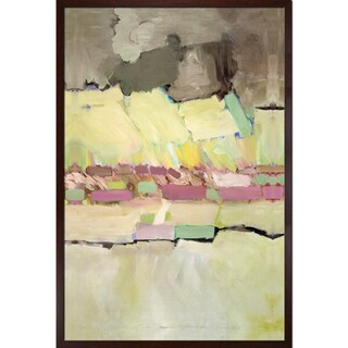 Allan Friedlander 'Pink and Yellow' Framed Fine Art Print