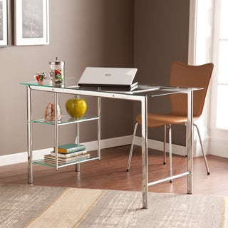 Clay Alder Home Liberty Chrome/ Glass Desk
