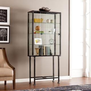 harper blvd metal glass slidingdoor display cabinet
