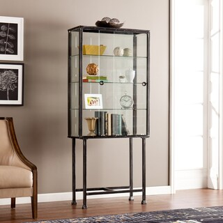 Harper Blvd Metal/ Glass Sliding-Door Display Cabinet