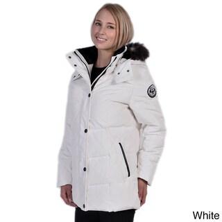 Women's Down Coat with Detachable Faux Fur Hood