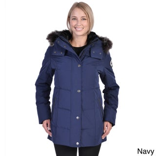 Women's Down Coat with Detachable Faux Fur Hood (More options available)