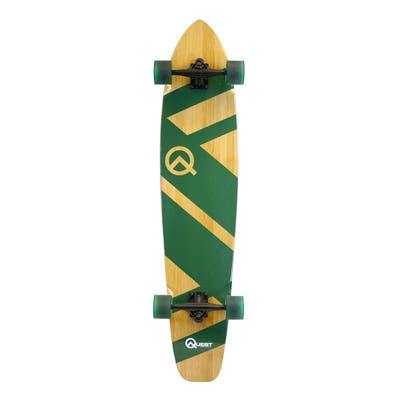 Quest Mega Cruiser Green and Natural Bamboo and Maple 44-inch Longboard Skateboard