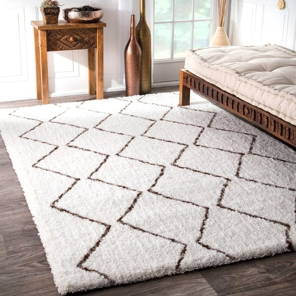 nuLOOM Handmade Soft and Plush Moroccan Shag Natural Rug (9' x 12')