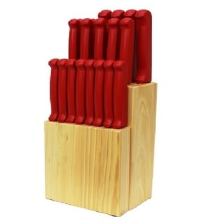 Quikut Homebasics 20-piece Red Cutlery Set