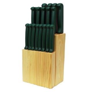 Quikut Homebasics 20-piece Green Cutlery Set