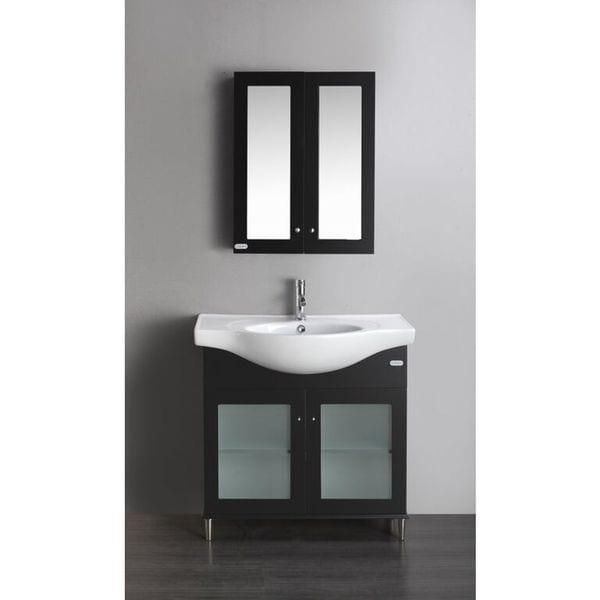 Shop eviva tux 36 inch bathroom vanity espresso free shipping today overstock 10610604 for 36 inch espresso bathroom vanity