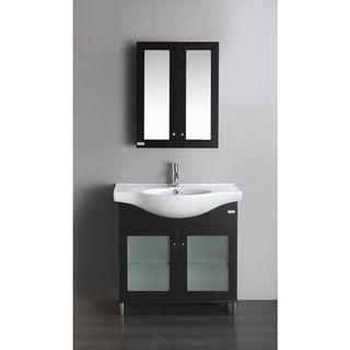 Eviva TUX 36-Inch Bathroom Vanity - Espresso