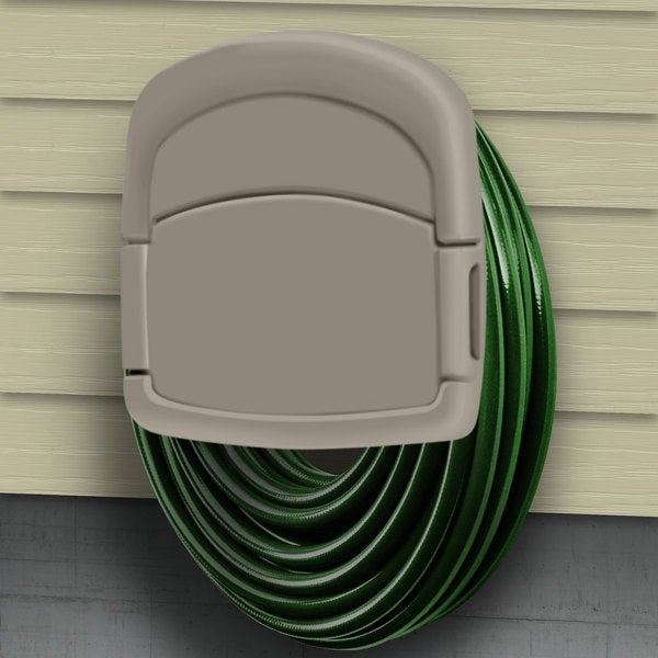 Wall Mounted Garden Hose Storage Caddy by Sto-Away - 14 x 12.5 x 5.75. Opens flyout.