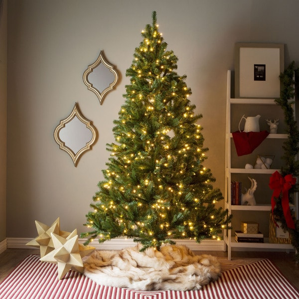 Shop 7 Foot Pre Lit Artificial Christmas Tree W Clear Or