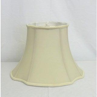 Cream Oval Silk Shade with Trim