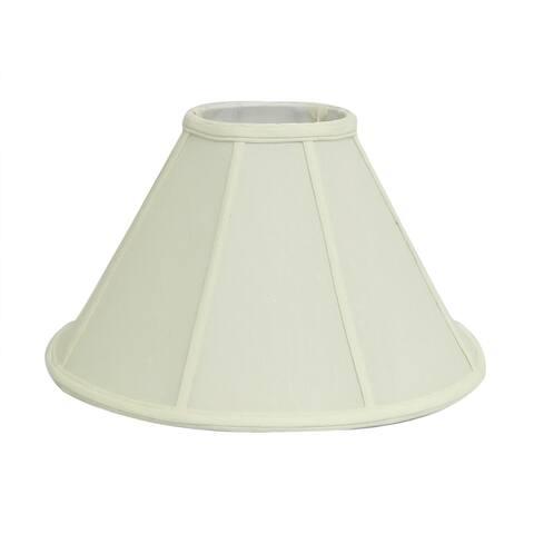 Round Bell Off-white Silk Shade