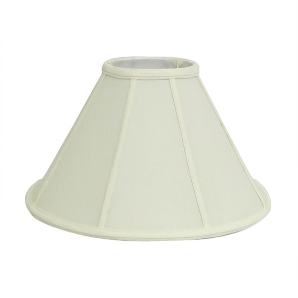 Round Bell Off-white Silk Shade
