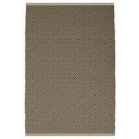 Indo Hand-woven Veria Almond and Brown Geometric Flatweave Area Rug (6' x 9')