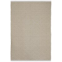 Indo Hand-woven Veria Almond and White Geometric Flatweave Area Rug (5' x 8')