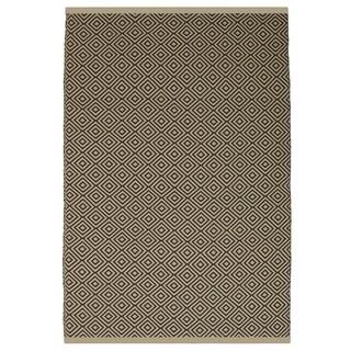 Indo Hand-woven Veria Almond and Brown Geometric Flatweave Area Rug (3' x 5')