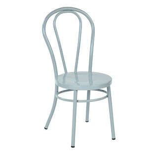 OSP Home Furnishings Fully Assembled Metal Dining Chair (Set of 2)