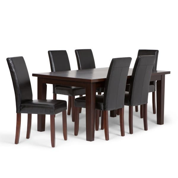 Fantastic Shop Wyndenhall Normandy Contemporary 7 Pc Dining Set With 6 Squirreltailoven Fun Painted Chair Ideas Images Squirreltailovenorg