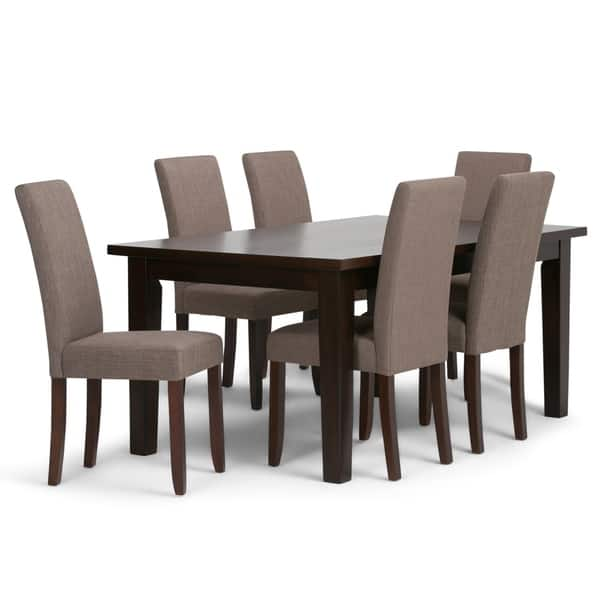 Outstanding Shop Wyndenhall Normandy Contemporary 7 Pc Dining Set With 6 Squirreltailoven Fun Painted Chair Ideas Images Squirreltailovenorg